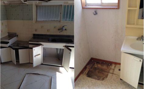 キッチンと洗面台